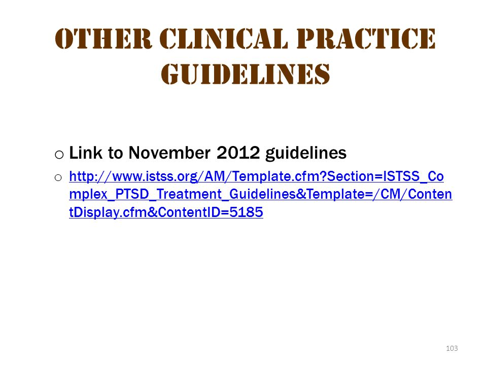 Other Clinical Practice Guidelines 2