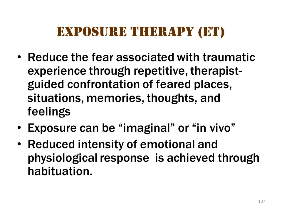 Exposure Therapy (eT)