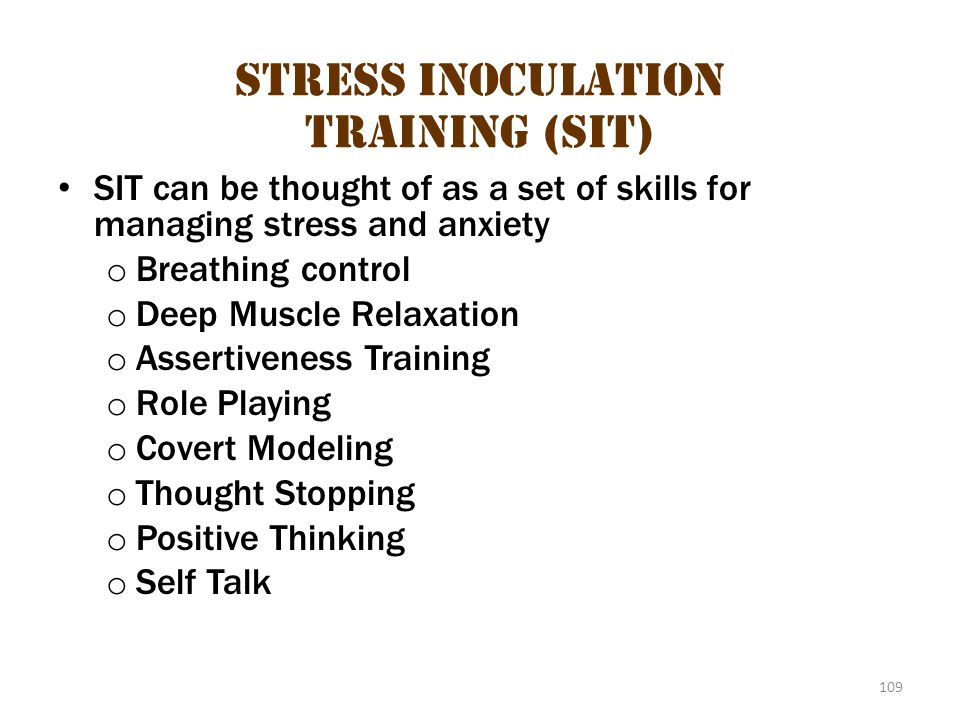 Stress Inoculation Training (Sit) 2