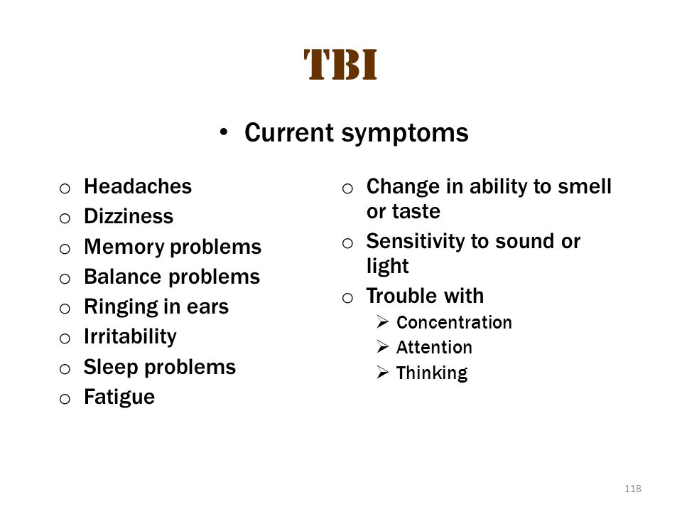 TBI tbi 3 Current symptoms Headaches