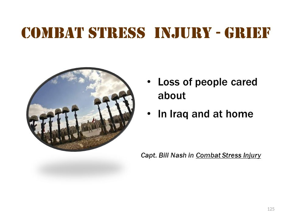 Combat stress injury - Grief