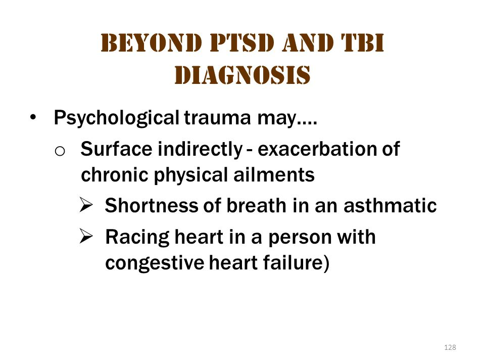Beyond ptsd and tbi diagnosis 1