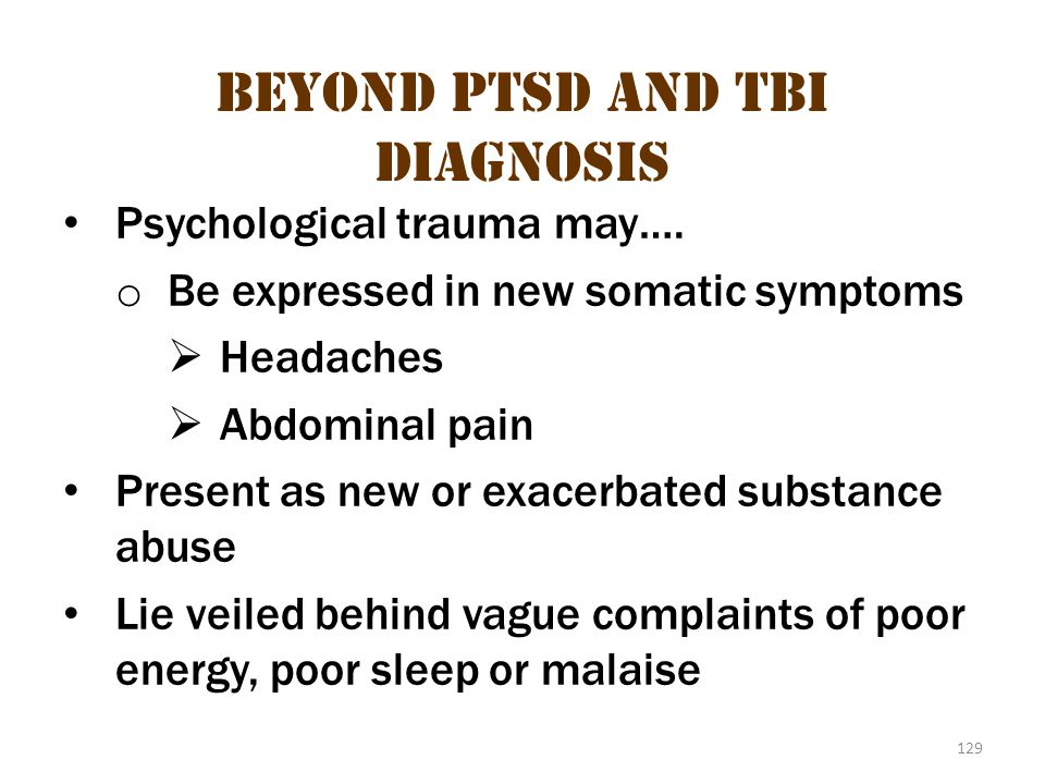 Beyond ptsd and tbi diagnosis 2