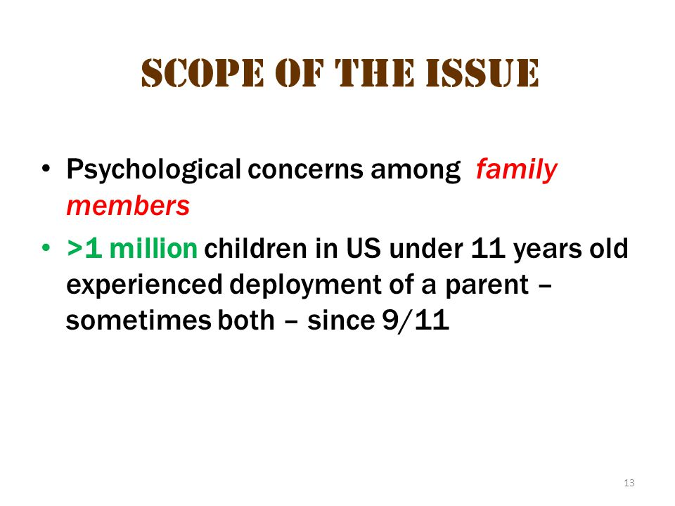 scope of the issue 5 Scope of the Issue