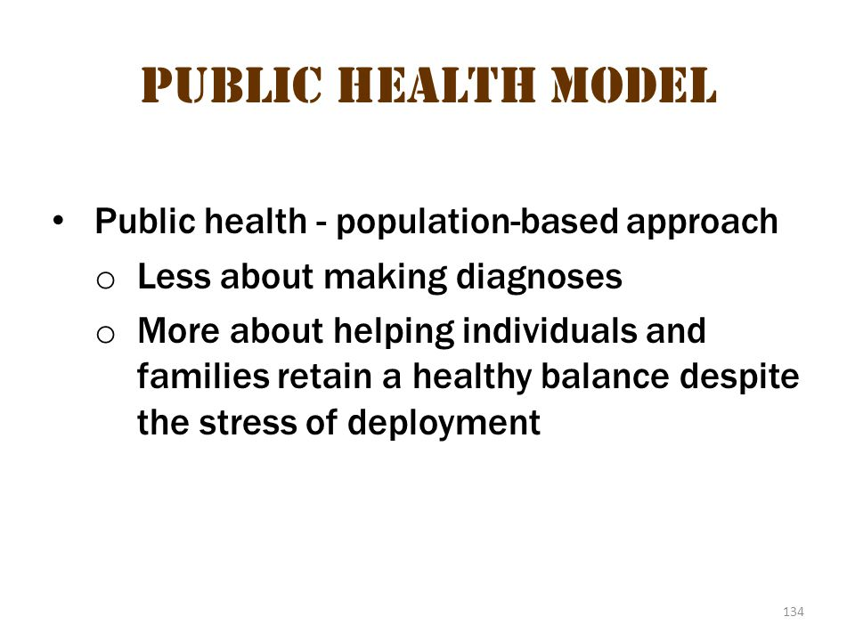 Public health model 2 Public Health Model