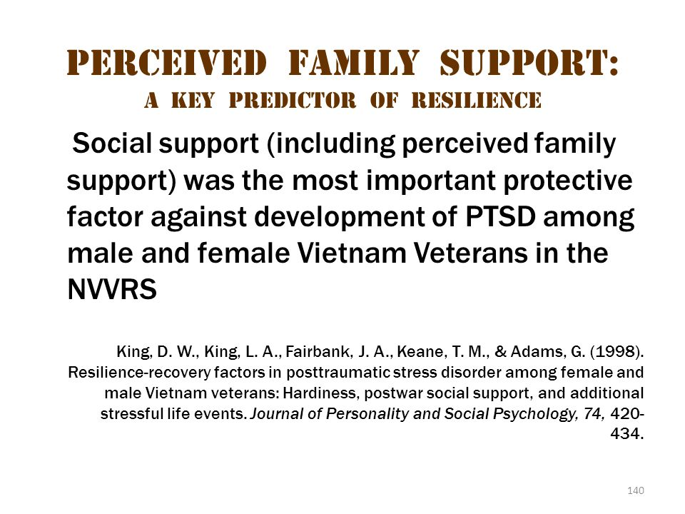Perceived Family Support: A Key Predictor of Resilience