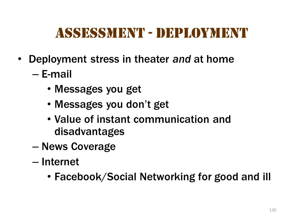 Assessment - Deployment