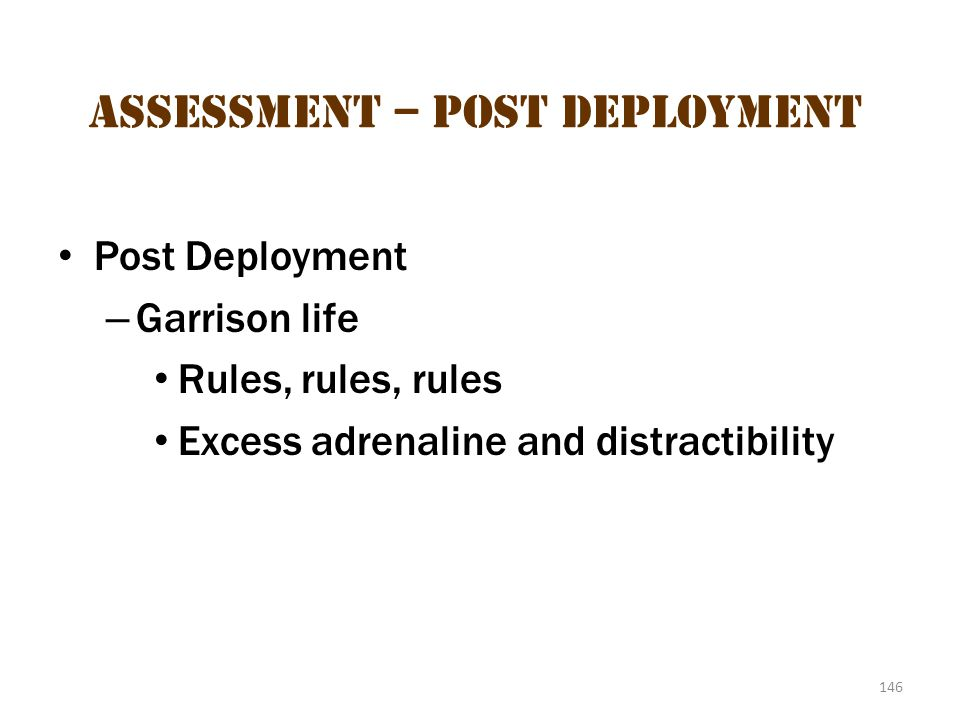 Assessment – Post-Deployment 1