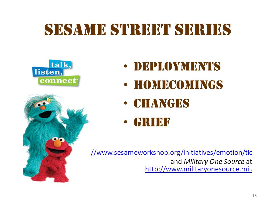 Sesame Street series Sesame Street Series Deployments Homecomings