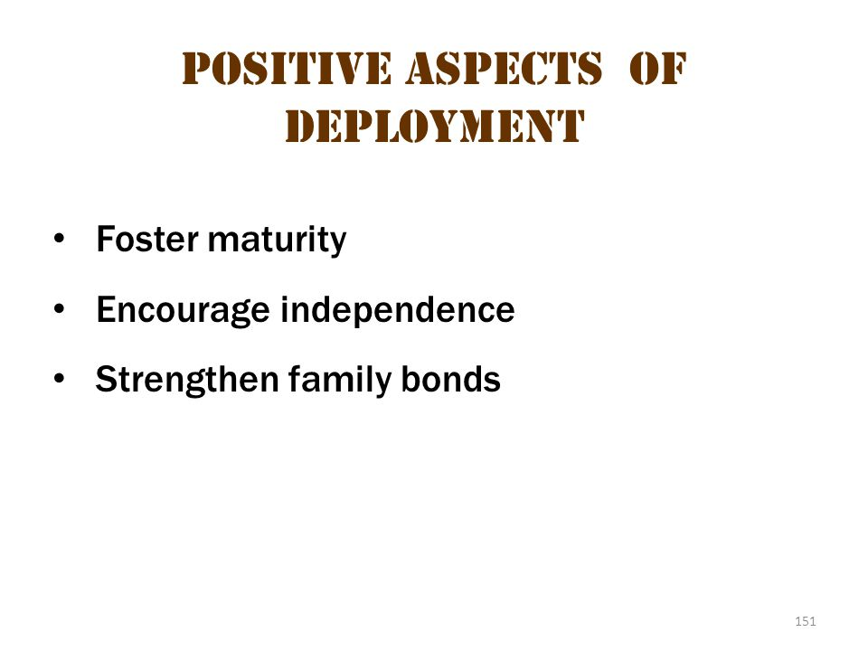 Positive aspects of deployment