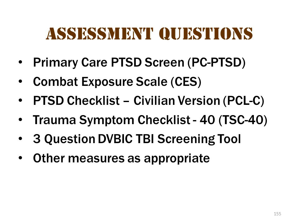 Assessment measures 3 Assessment Questions