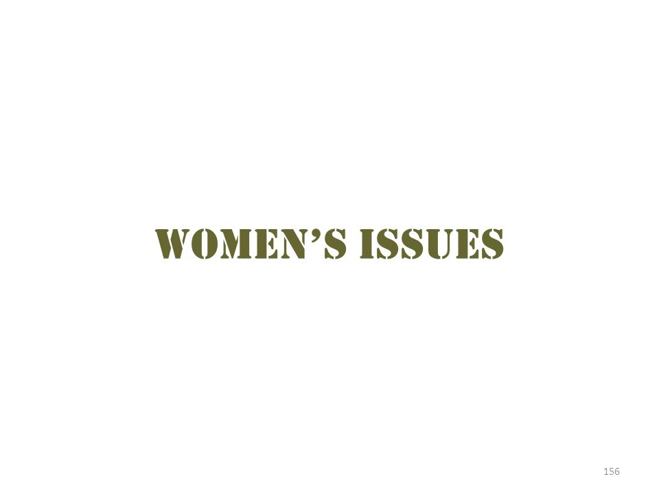 Women's issues 156