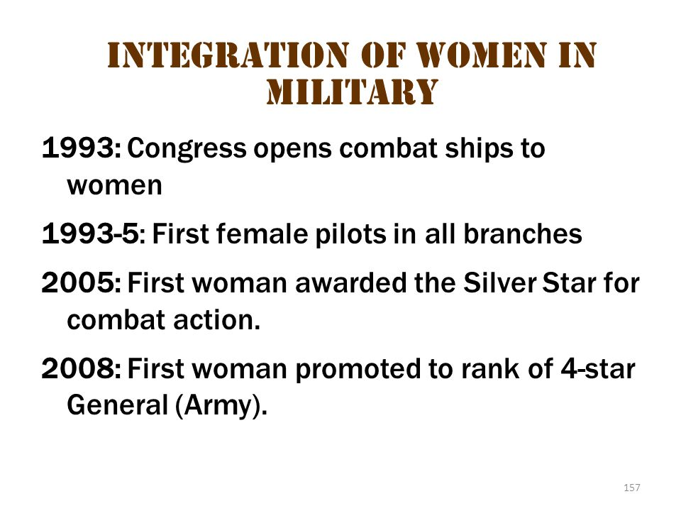 Integration of Women in Military 1