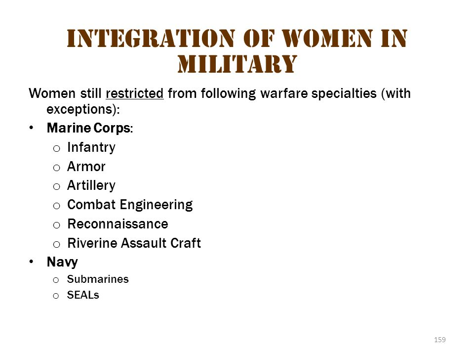 Integration of Women in Military 3
