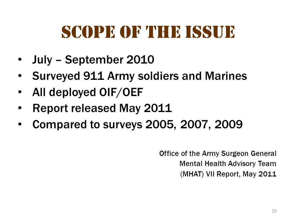 Scope of the Issue 7 Scope of the Issue July – September 2010