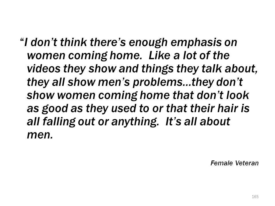 Quote from a Female Veteran