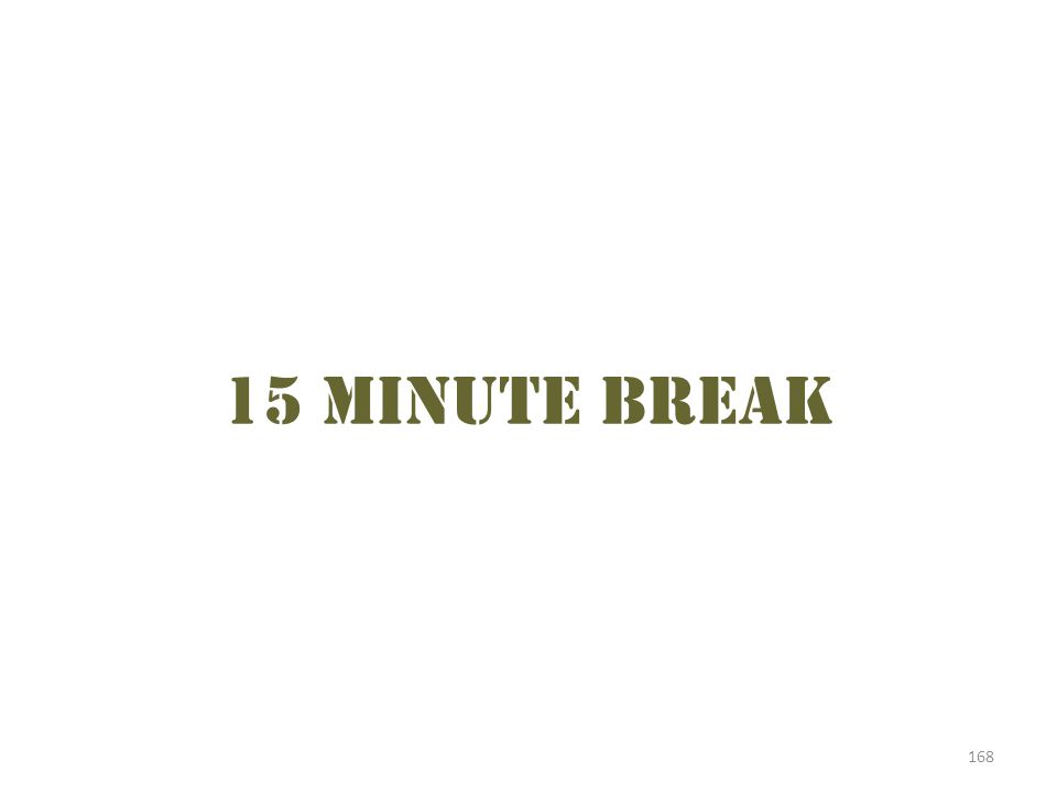 15 minute break 168