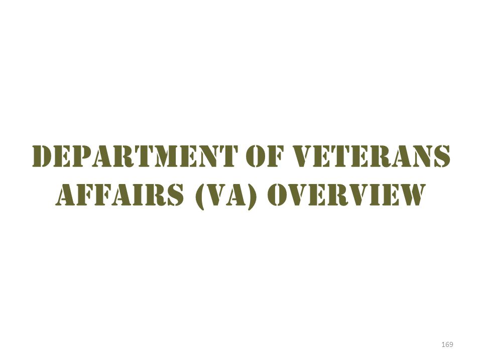 Department of Veterans Affairs (VA) overview