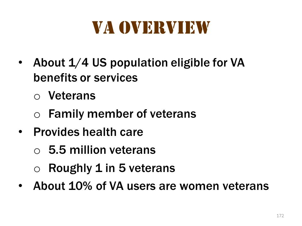 VA Overview 2 VA Overview