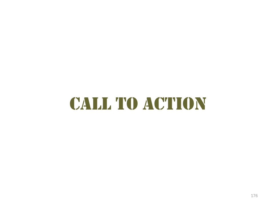 Call to action Use this time to discuss