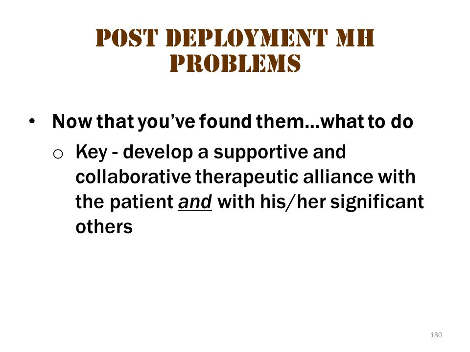 Post deployment MH problems 3