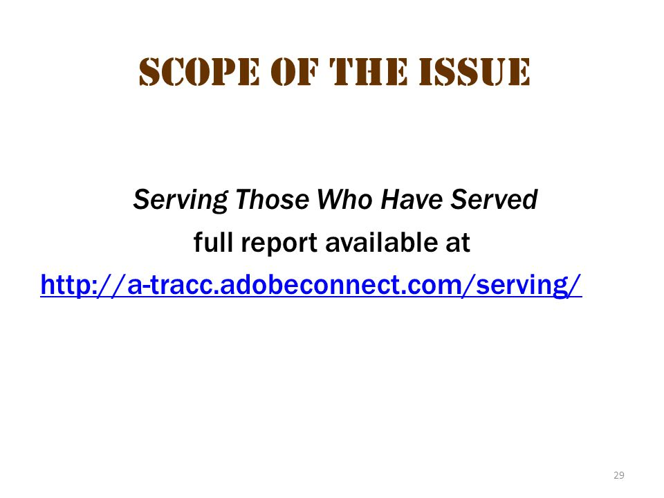 Scope of the issue 18 Scope of the Issue