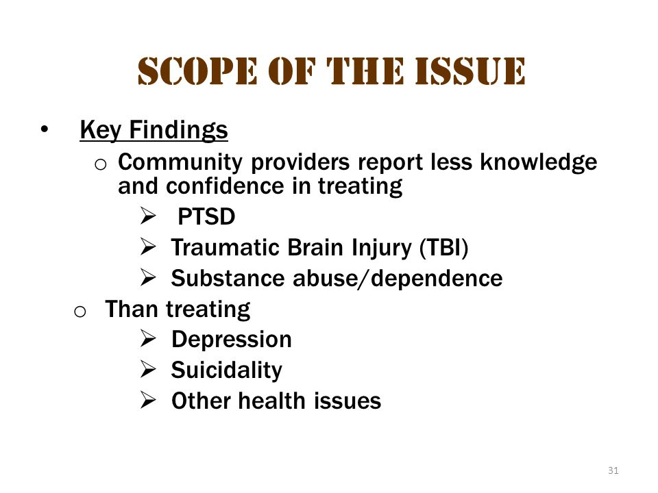 Scope of the issue 20 Scope of the Issue Key Findings