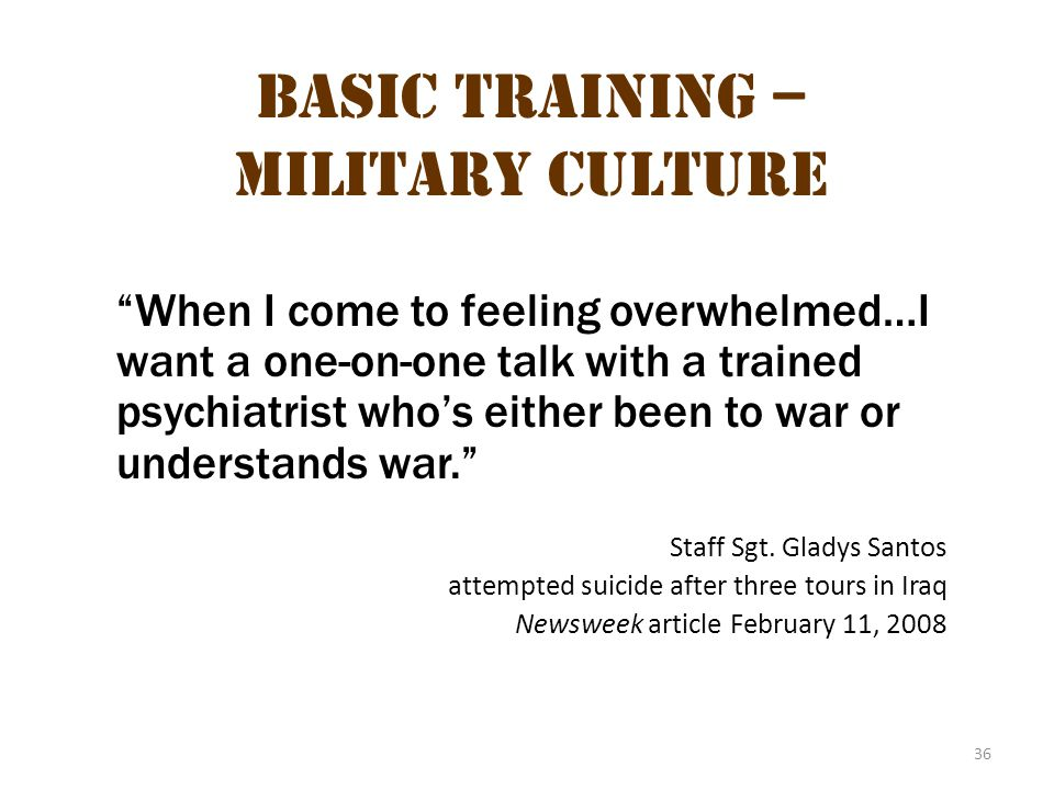 Basic Training – Military Culture 2