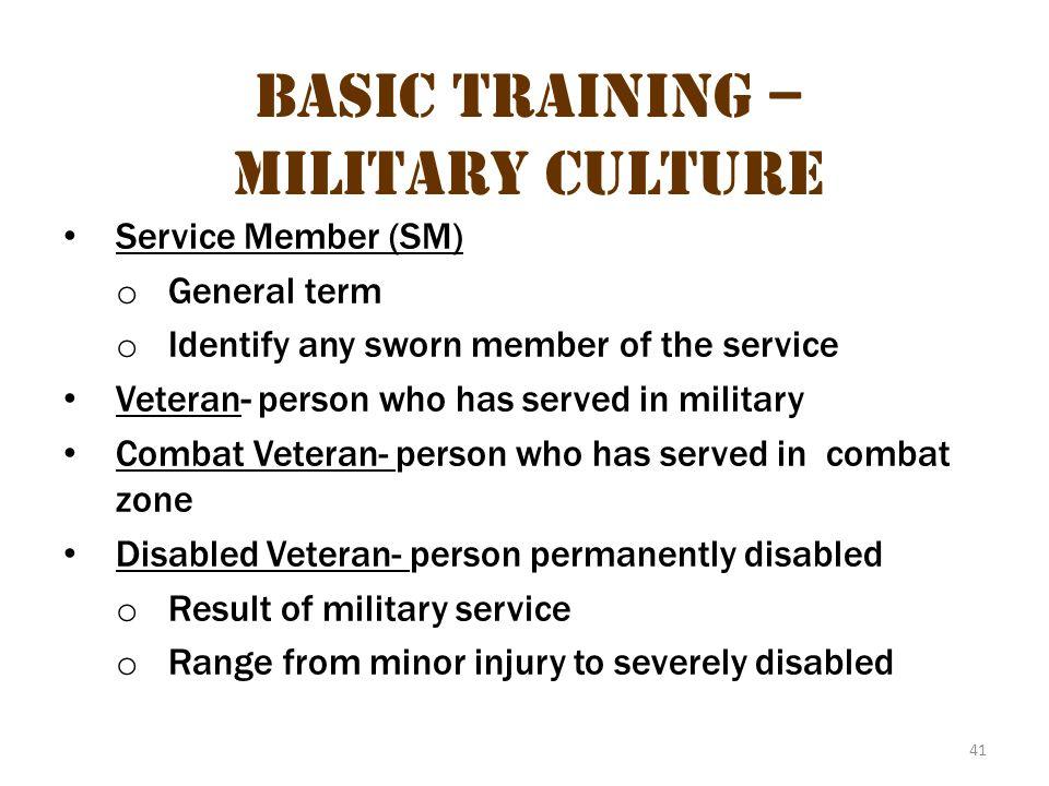 Basic Training – Military Culture 7
