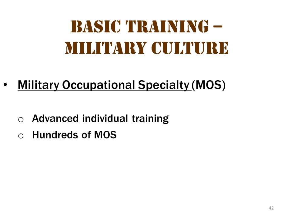 Basic Training – Military Culture 8