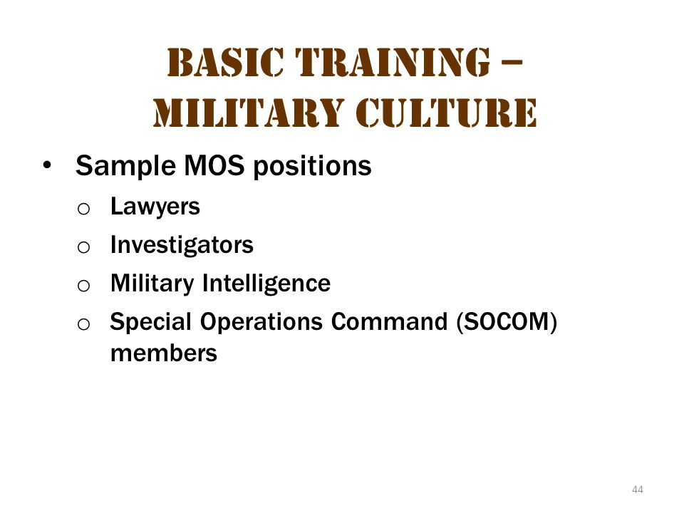 Basic Training – Military Culture 10