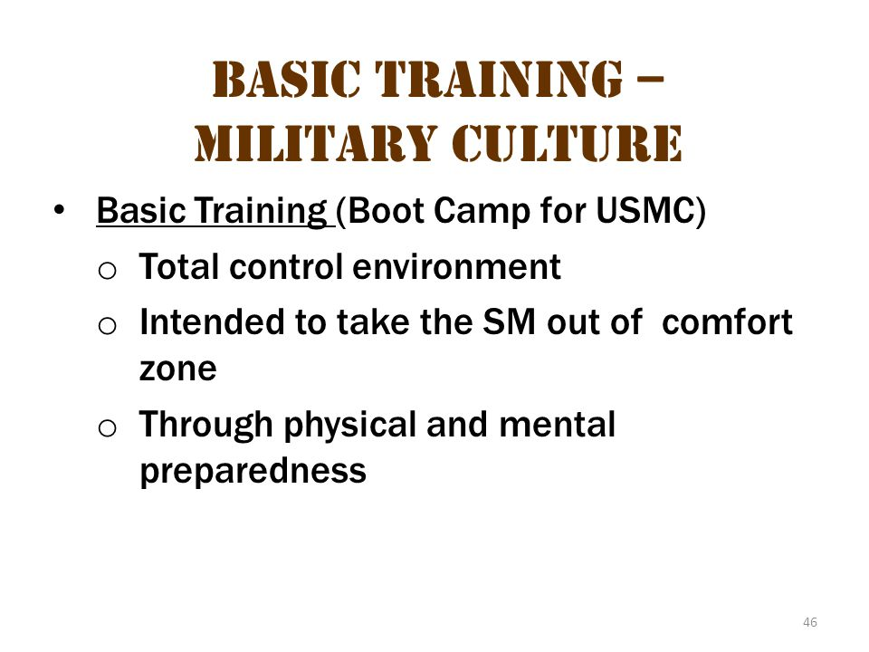 Basic Training – Military Culture 12