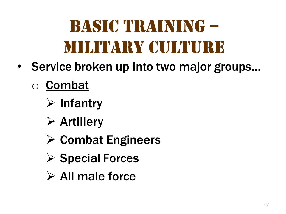 Basic Training – Military Culture 13