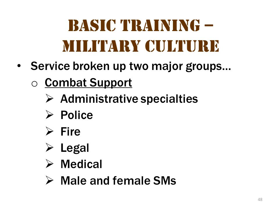 Basic Training – Military Culture 14