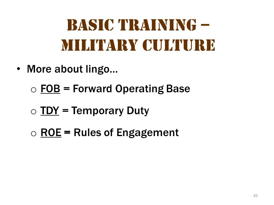 Basic Training – Military Culture 15