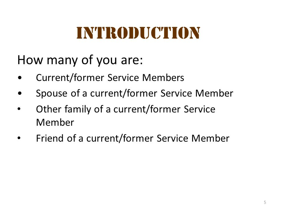 Introduction 1 Introduction How many of you are: