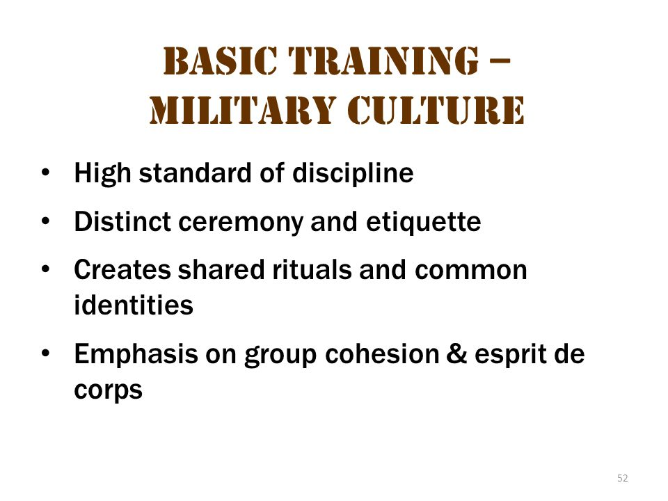 Basic Training – Military Culture 16
