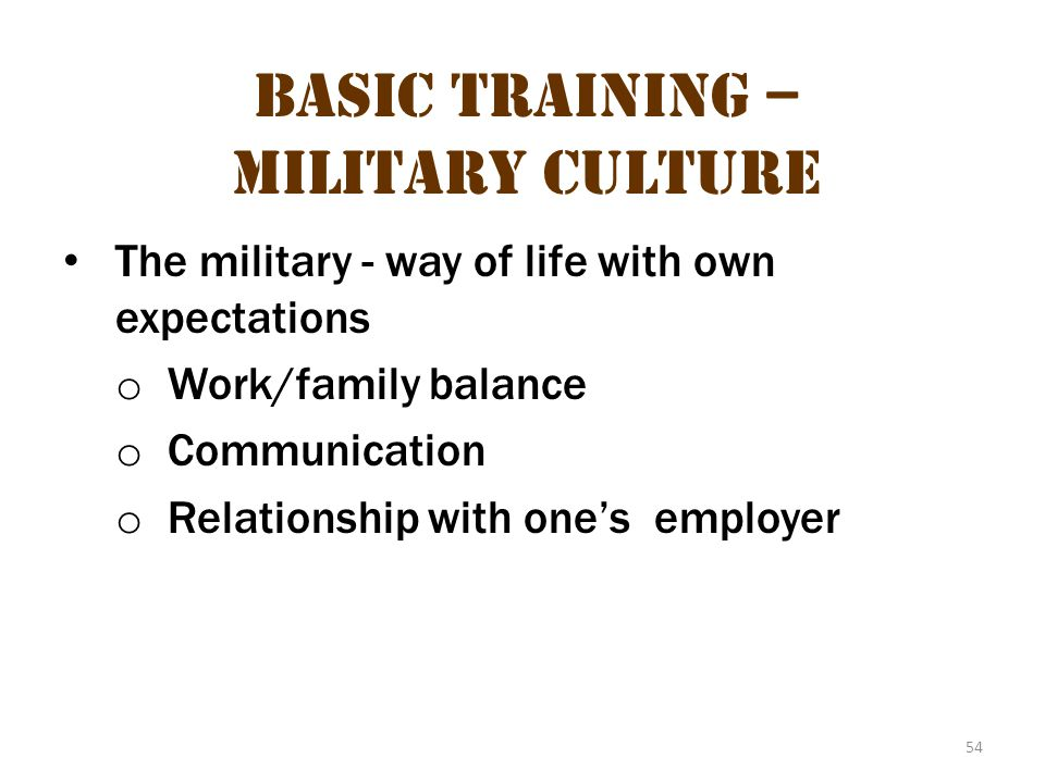 Basic Training – Military Culture 18