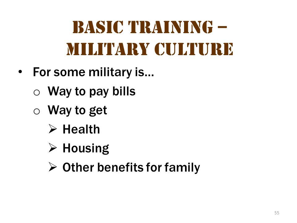 Basic Training – Military Culture 19