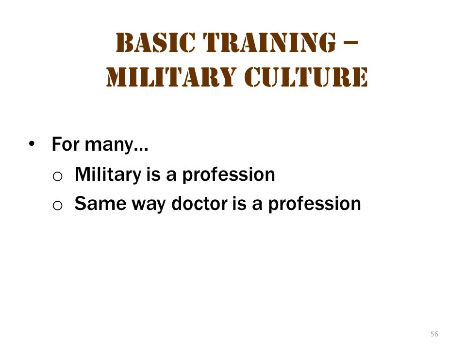 Basic Training – Military Culture 20