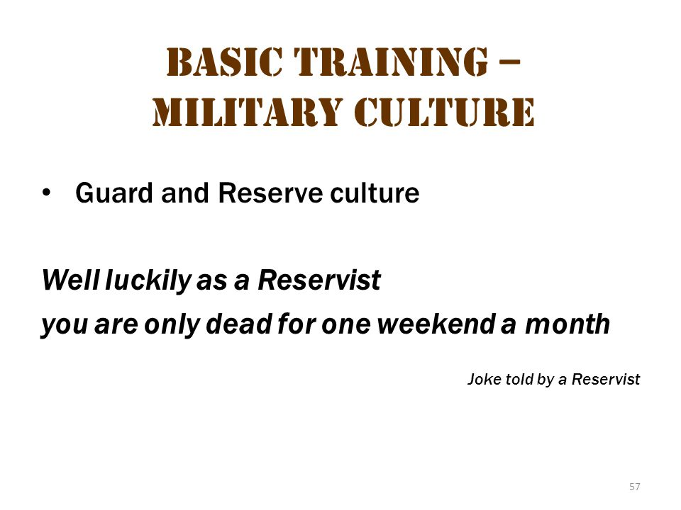Basic Training – Military Culture 21