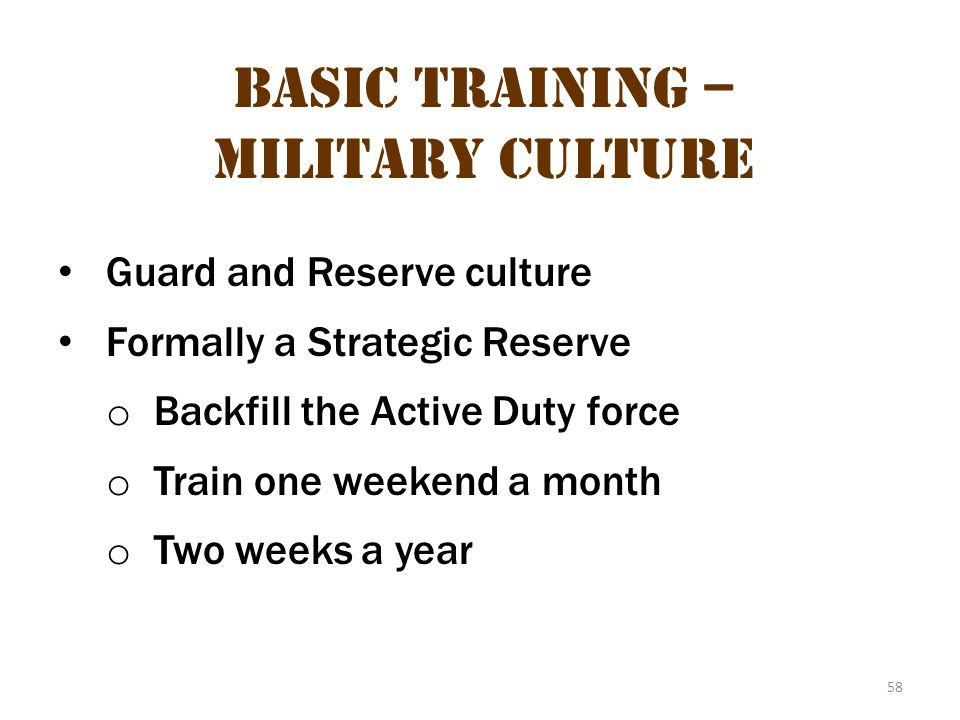 Basic Training – Military Culture 22