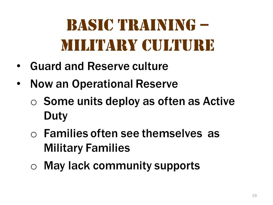 Basic Training – Military Culture 23