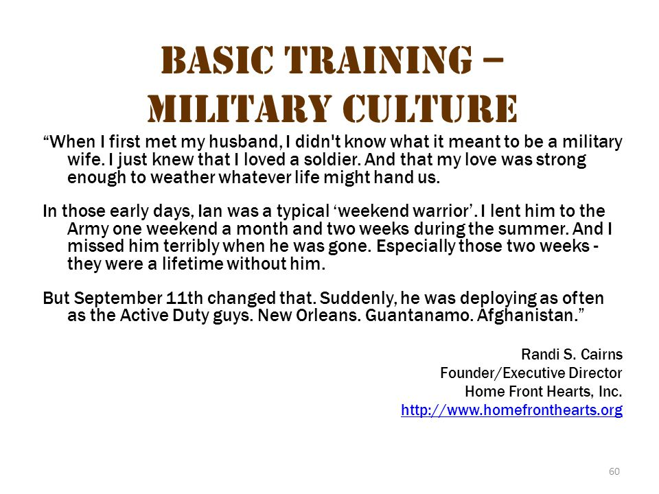 Basic Training – Military Culture 24