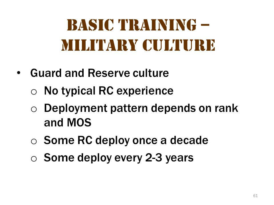 Basic Training – Military Culture 25