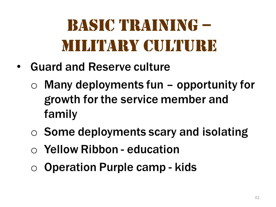 Basic Training – Military Culture 26