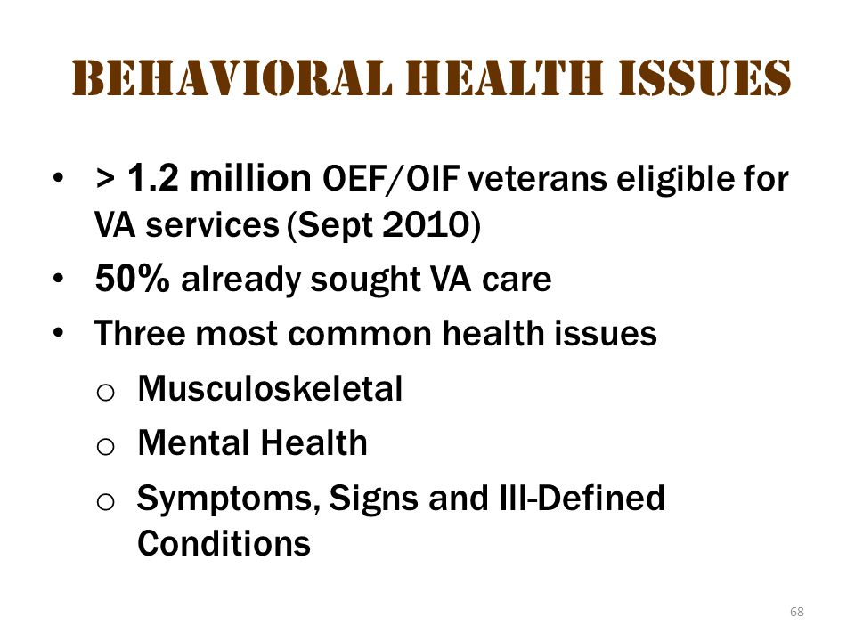 Behavioral health issues 2
