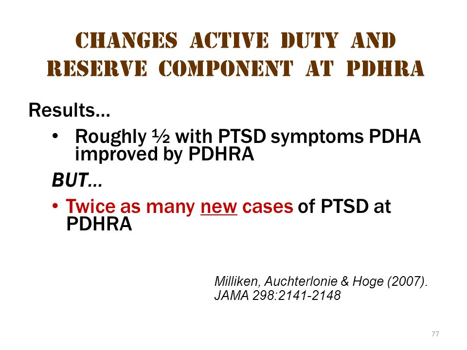 Changes Active Duty and Reserve Component at pdhra 1
