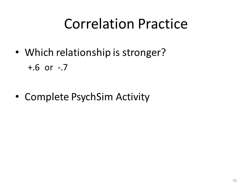 Correlation Practice Which relationship is stronger