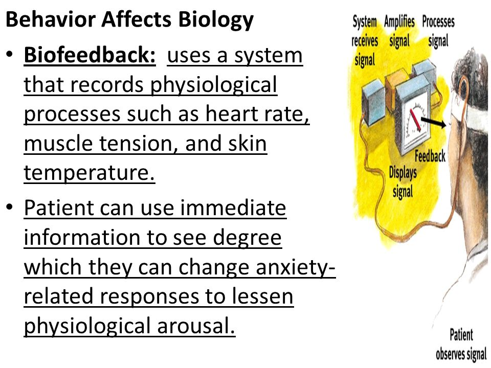 Behavior Affects Biology